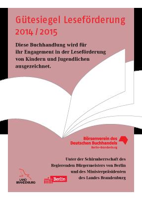 Gütesiegel Leseförderung 2014_2015